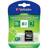 Verbatim Micro SDHC 8GB Mobile UHS-1 Class 10 + SD adaptér