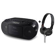 Sony CFD-S50 + MDRZX100, černý