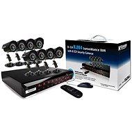 KGUARD 8-kanálový rekordér DVR + 8x barevná venkovní kamera