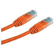 Datacom, CAT5E, UTP, 0.5m, oranžový