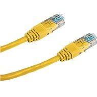 Datacom, CAT5E, UTP, 1m, žlutý
