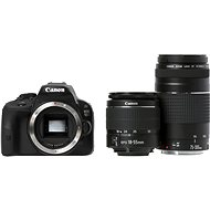Canon EOS 100D body + objektiv EF-S 18-55mm DC III + objektiv 75-300mm DC III