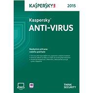Kaspersky Anti-Virus 2015 CZ pro 1 PC na 12 měsíců